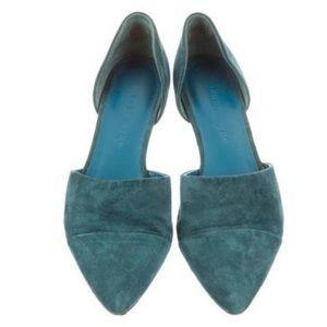 Jenni Kayne Teal d'Orsay Pointed Toe Flats